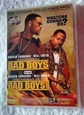 BAD BOYS+ BAD BOYS 2 (DVD, 2-DISC) R-4, LIKE NEW, FREE POST WITHIN AUSTRALIA