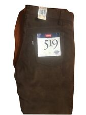 NWT Vintage 519 Levi's Cords Straight Leg Jeans 36 x 33 Chocolate Brown 34 x 32