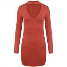 Vestidos de mujer de color principal rojo de poliéster talla 40