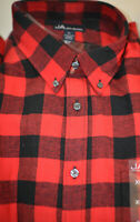 Macy's John Ashford Long-Sleeve Flannel Button-Down Shirt SIZE: L-XL-XXL #1120