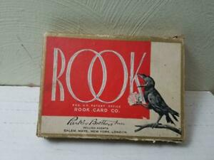 VINTAGE PARKER BROTHERS ROOK GAME REPLACEMENT CARDS RULES RED NAVY CROW BACK
