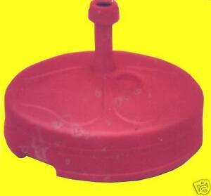 Sonnenschirmständer füllbar 22L Kunststoff Schirmständer ROT NEU
