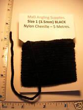 5M pacco di dimensioni 1 (3.5 mm di diametro) IN NYLON ciniglia in nero per volare la vendita abbinata