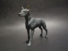 Dollhouse Miniature Fairy Garden Dog 10 - Doberman Pinscher Grey