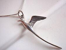 Long Tail Bird Pendant 925 Sterling Silver Corona Sun Jewelry Audubon