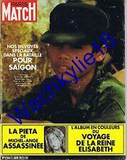 Paris Match 1204 03/06/1972 Saïgon Vietnam Pieta Parc des Princes Elizabeth Ads