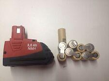 1 kit battery batterie bateria hilti SFB 121 3 Ah ( no box) only 1 ack 10 cells