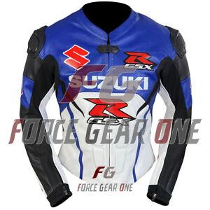 Suzuki Motogp Motorbike/Motorcycle Racing Cowhide Leather Jacket for Men & Women
