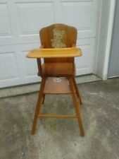 Vintage Wooden Baby High Chair w/Removable Tray by Bresnahan Menominee Michigan