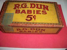 R.G. DUN CIGAR BABIES VINTAGE CIGAR BOX