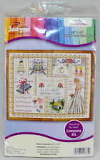 "Wedding Collage Counted Cross Stitch Kit-13"" X 10 "" Bells Bride Ring Doves"
