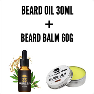 Mens Beard Oil and Balm Set Combo | Natural | Beard Growth Kit | Conditioning