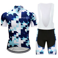 Unique Mosaic Men's Cycling Jersey Bib Shorts Set Riding Short Bike Shirt Pants
