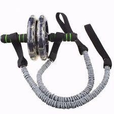 2pcs Roller Wheel Pull Rope Waist Abdominal Slimming Fitness Exercise Equipment