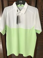 NWT UNDER ARMOUR HEAT GEAR LOOSE GOLF POLO SIZE LARGE