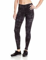 New Calvin Klein Performance Women's Aerial Print Cotton Leggings Pants PF6P0613