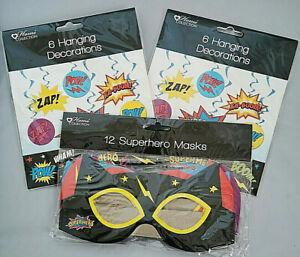 Superhero Cartoon Slogans Party Decorations Hero Party Masks