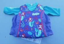 Puddle Jumper Upf 50+ 2-In-1 Kids Life Jacket & Rash Guard 33-55 lb. Mermaids
