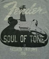 FENDER GUITAR SOUL OF TONE FULLERTON CALIFORNIA 1946 T SHIRT SIZE SMALL