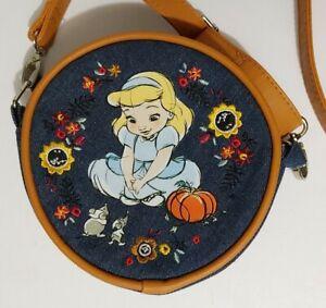 Disney Store Animators Cinderella Shoulder Strap Circle Purse Pouch Bag
