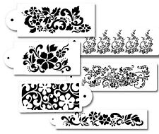 6 Pc Cake decorating Stencils for Airbrush Paint Icing Frosting Fondant FLOWERS