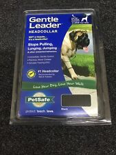 Petsafe Gentle Leader Head Collar XL Black For Dogs Over 130 lbs W/ Training DVD