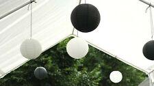12x black white paper lanterns engagement wedding party shower events decoration