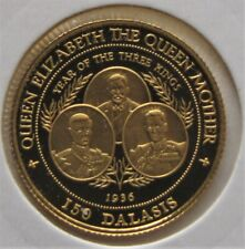 Queen Mother 1996 ` GAMBIA the year of the 3 KINGS 14 ct gold proof..