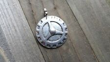 Large Gear Pendant Antiqued Silver Gear Charm Steampunk Supplies
