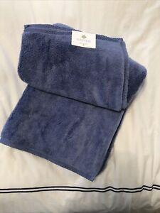 New Matouk MILAGRO BATH SHEET TOWEL Periwinkle Blue Super Soft 40 X 70