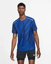 Nike TechKnit Ultra Men's Short-Sleeve Running Top 2XL Blue Gym Training Shirt