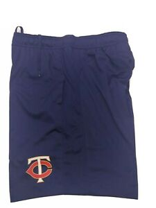 Under Armour men's Minnesota Twins athletic Shorts SZ Medium Loose Fit Navy