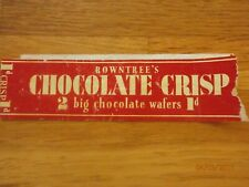 More details for rowntrees chocolate crisp wrapper 1d.