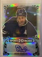 2017 Leaf Sports Heroes Doug Gilmour Autograph Black 2/3