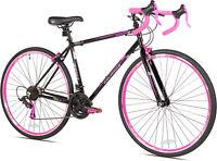 700c Courage Road Womens Bike, Pink/Black 21-Speed Drivetrain