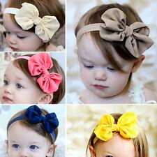 Baby Stirnband Mädchen Blume Bow Haarband Haarschmuck Kopfband Taufe Blume
