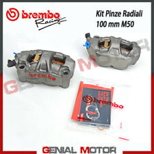 Kit Pair Radial Brake Calipers Brembo Racing M50 SX DX Monobloc 100 Mm With Pad
