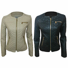Unbranded Faux Leather Zip Biker Jackets for Women