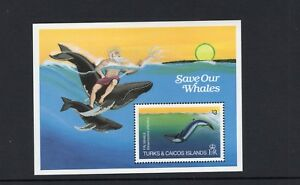 Turks and Caicos 1983 Fin Whale with Neptune Miniature Sheet  MNH  SG MS753