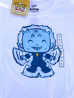 """Funko Pop"" Game of Thrones - Night King Angel T Shirt  White Blue NWT! Rare!"