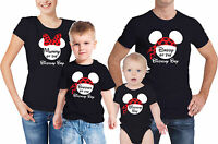 Baby's birthday boy family t-shirts set with mouse ears. Set of 4 t-shirts