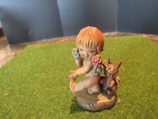 "Anri Ferrandiz NATURE GIRL Figurine Woodcarving 3"""