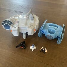 Playskool Star Wars Galactic Heroes - Millennium Falcon - Tie Fighter - Darth+++