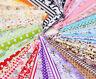 50 pieces 10cmx10cm fabric stash cotton cloth packs patchwork quilting tissue