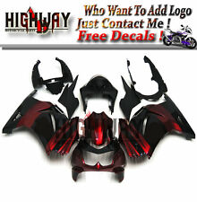 Fairings For Kawasaki Ninja 250 08-12 EX250R EX-250R ABS Fairing Elf Black Red