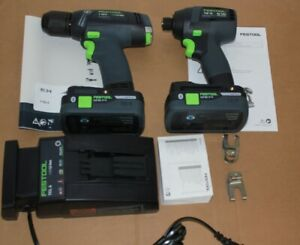 Festool T18+3 And TID 18  Li-IOn cordless combo set with hipower batteries.