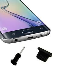 Coppia tappi antipolvere silicone nero MicroUSB + jack Samsung Galaxy S6 S7 Edge