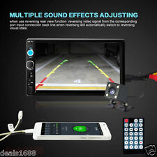 7' Hd Bluetooth Touch Screen Car Stereo Audio Radio Fm Mp5 Mp3 Usb Aux + Camera