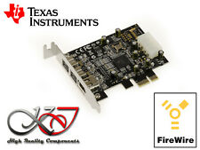 Carte PCIE FIREWIRE 400 et 800 IEEE1394 A+B PUCE TEXAS INSTRUMENTS - LOW PROFILE