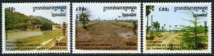 Cambodge 1582-1584, Mi 1670-1672, MNH Un Interne Jour De Volunteers.landscapes,